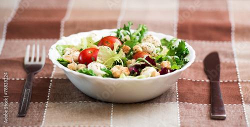 Canvas Prints Textures delicious vegetarian salad