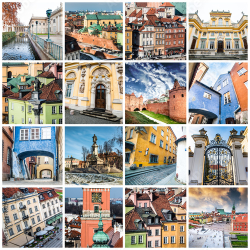 Valokuva  collage from Warsaw
