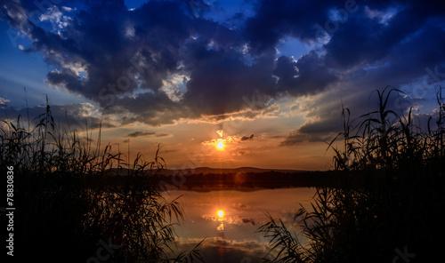 Fototapety, obrazy: Sonnenuntergang am Singliser See