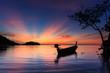 sunrise at Railay beach, Krabi, Andaman sea Thailand