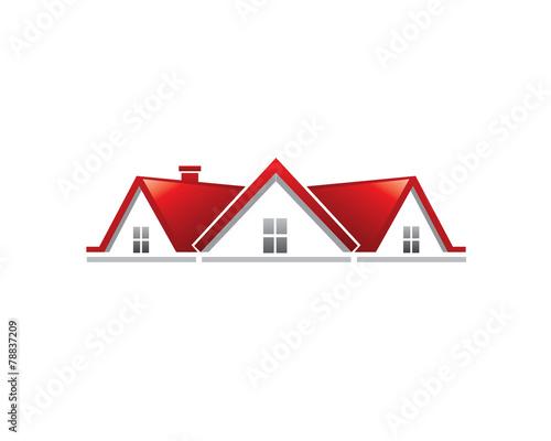 Obraz na plátne Real Estate Roof Symbol