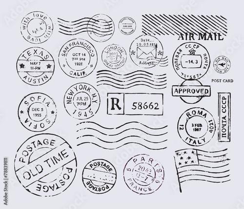 Valokuvatapetti postage stamp