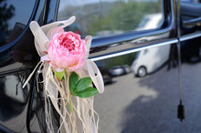 Wedding Car With Flower And Wh...