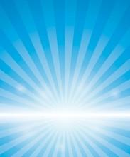 Blue Background With Sunburst....