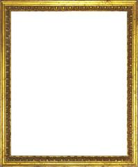 Original Antiker Fotorahmen mit Golddekor