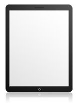 Modern Computer Tablet With Bl...