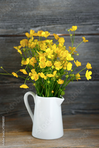 Foto op Canvas Madeliefjes yellow autumn flowers in a vase