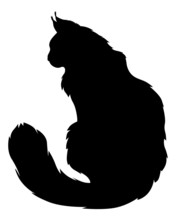 Furry Cats Silhouette