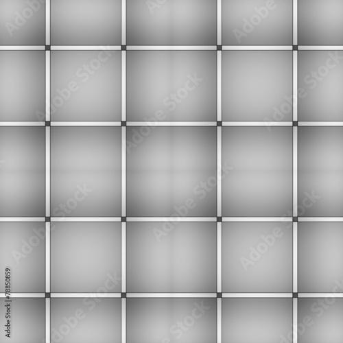 Fototapeta Grey square seamless embossed pattern. obraz na płótnie