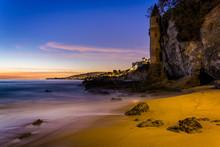 Victoria Tower At Sunset, At Victoria Beach, Laguna Beach, Calif