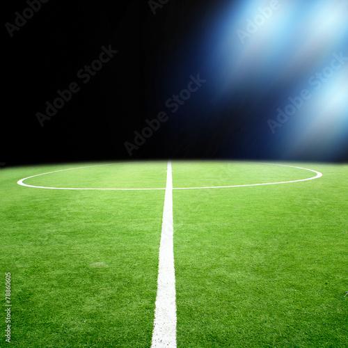 Láminas  soccer stadium with bright lights