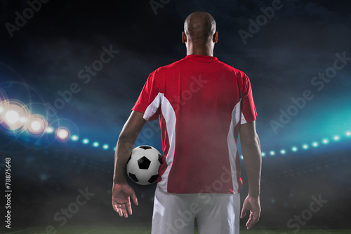 Photo  Player with soccer ball