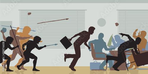 Fotografie, Obraz  Aggressive corporate takeover