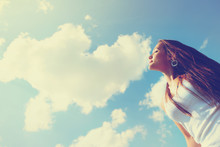Happy Fresh Girl Enjoying Summer, Youth And Freedom. Toned Outdo