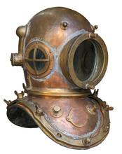 Old Antique Metal Scuba Helmet...