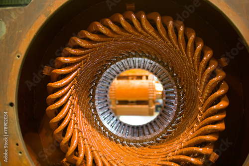 Fototapeta Stator of a big electric motor