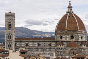Fototapeta View of Duomo and Florence