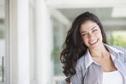 Happy Latin Woman Portrait