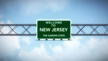 New Jersey USA State Welcome T...