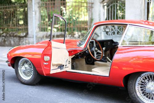 Papiers peints Vintage voitures Oldtimer rotes Coupe