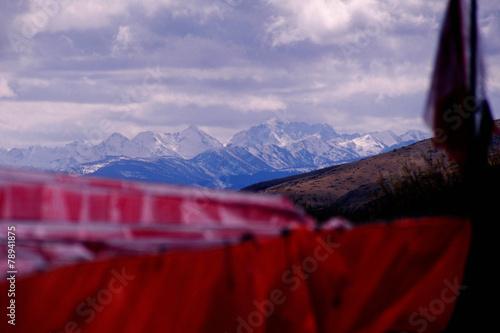 Papiers peints Rouge mauve 중국의 자연풍경