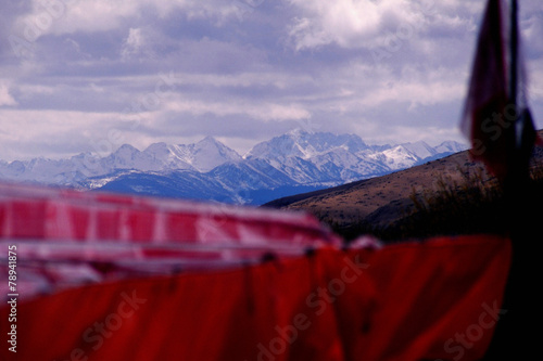Foto op Canvas Rood paars 중국의 자연풍경