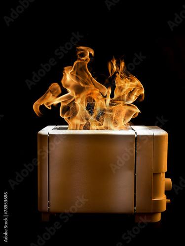 Burning toaster