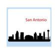 San Antonio, Texas skyline. Detailed vector silhouette