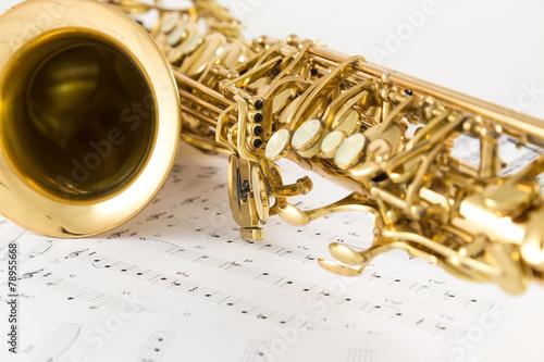 fototapeta na drzwi i meble Saksofon