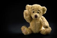 Teddy Bear On Black Background