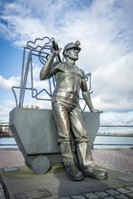 Bronze Statue Of A Coal Miner