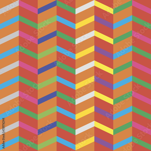 Fotobehang ZigZag seamless background with abstract geometric shapes