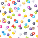 Colorful sequins seamless pattern.