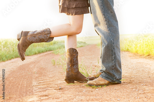 Fotografia, Obraz  Dirt Road Boots & Love