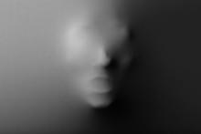 Human Face Screaming Pressing Through Fabric As Horror