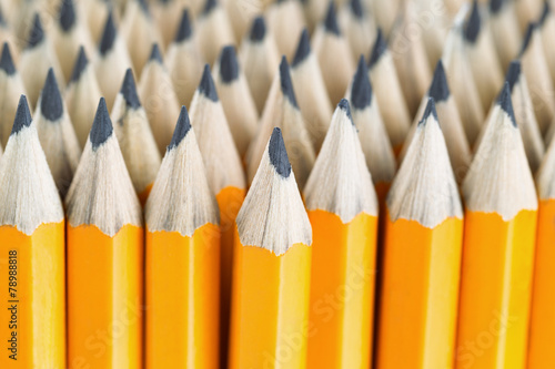 Photo Stack of pencils ready for back to school