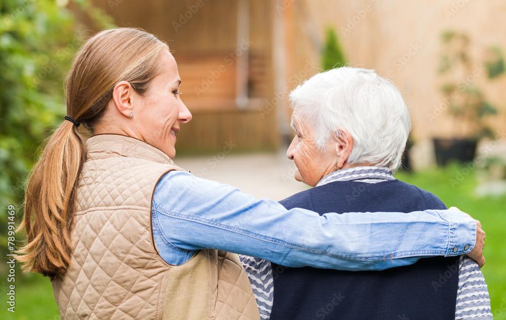 Fototapeta Elderly care