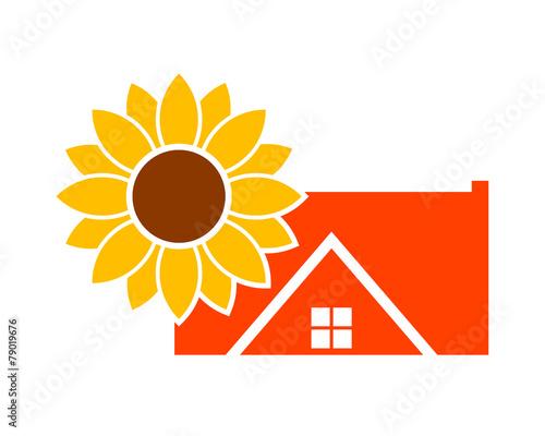 Obraz na plátně sunflower house3