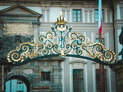 Fotografie, Obraz  Golden arch of Prague Castle