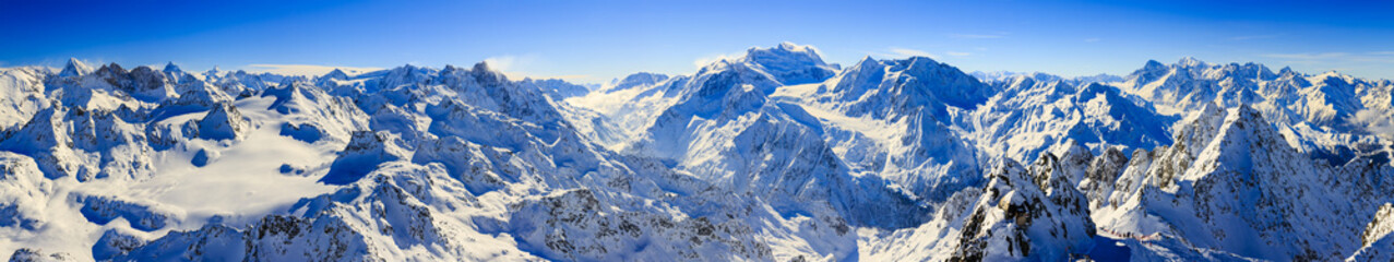 Swiss Alps, panorama from Mont Fort