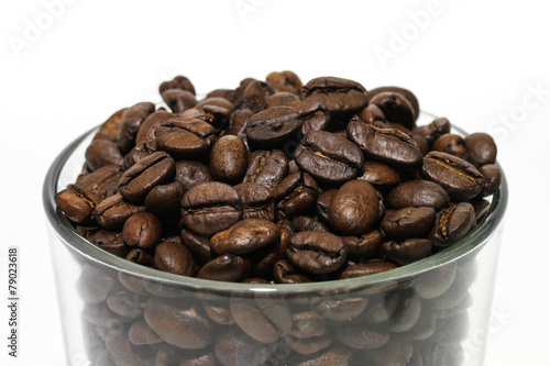 Canvas Prints Coffee beans Kaffeeglas