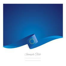 New Abstract European Union Flag Ribbon