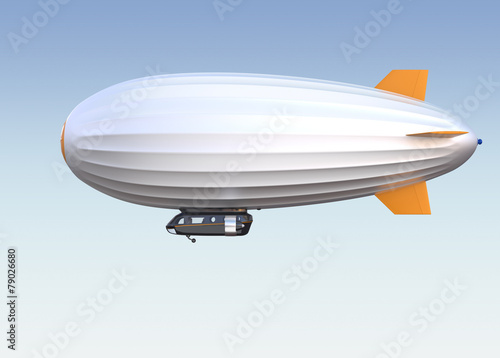 Side view of airship. Clipping path available. Wallpaper Mural