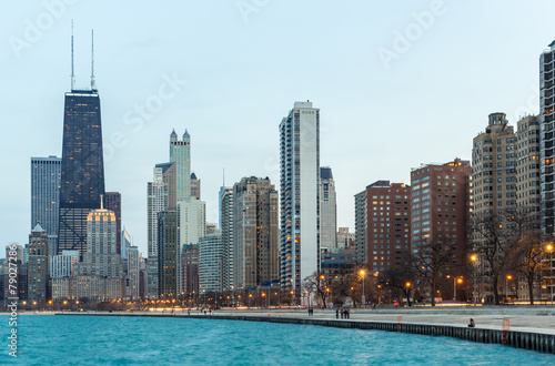 In de dag Chicago Chicago at dusk