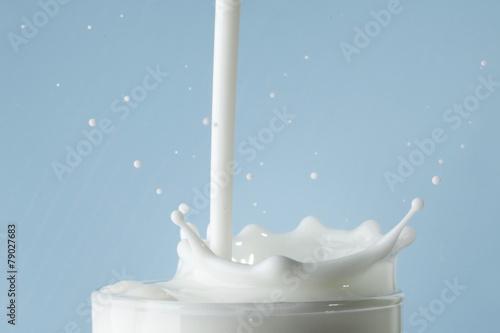 Fotografie, Obraz  Splash of milk in glass