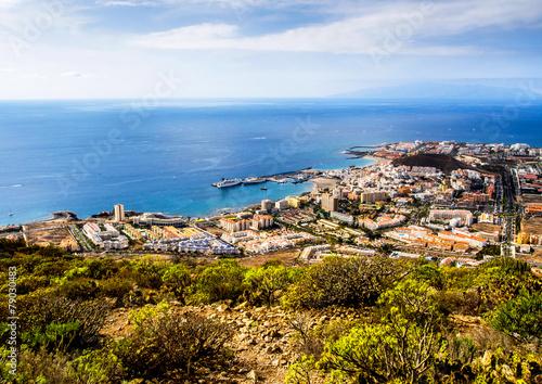 Los Cristianos and Las Americas. Tenerife, Canary Islands Canvas Print