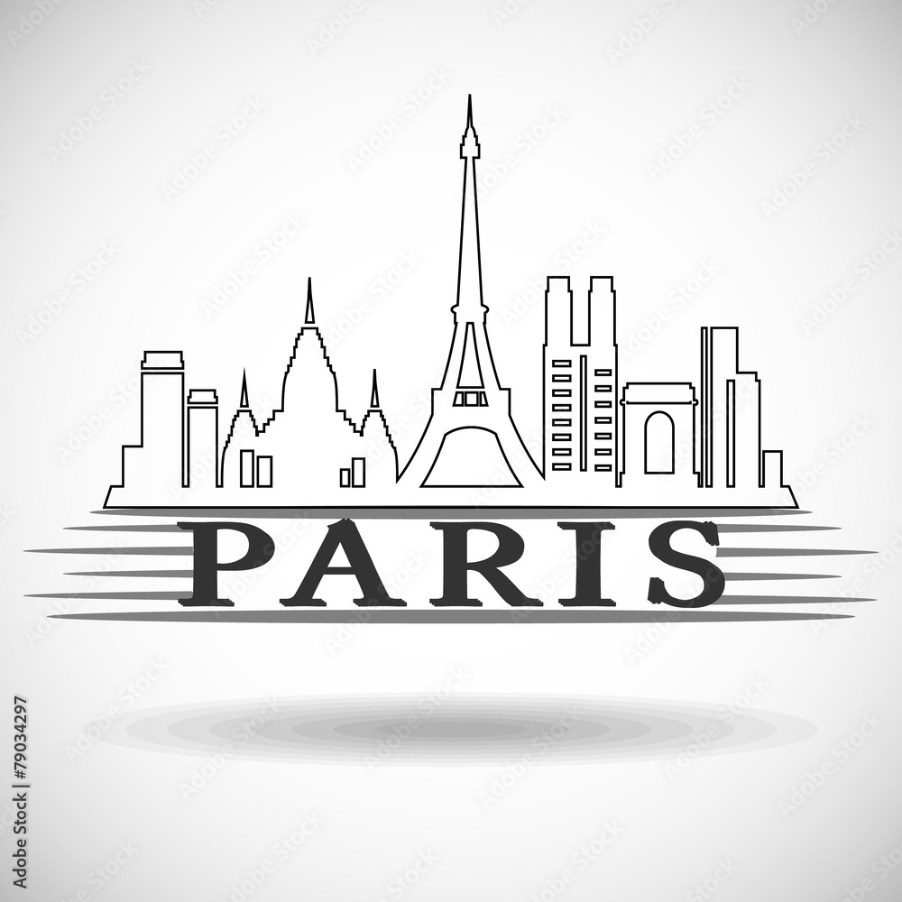 Photo & Art Print Paris city skyline | EuroPosters