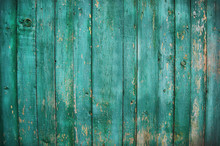 Green Wood Plank Background