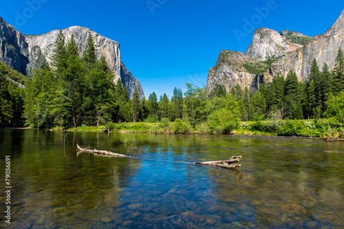 In de dag Natuur Park Valley View Yosemite
