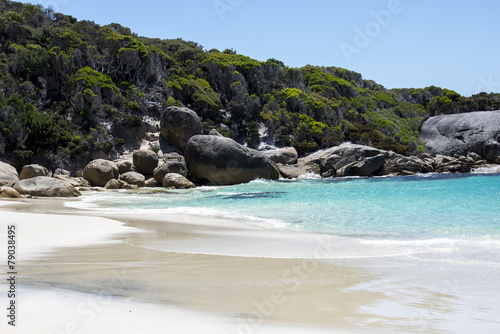 Rocky landscape on a Little Beach in Two Peoples Bay Reserve Tablou Canvas
